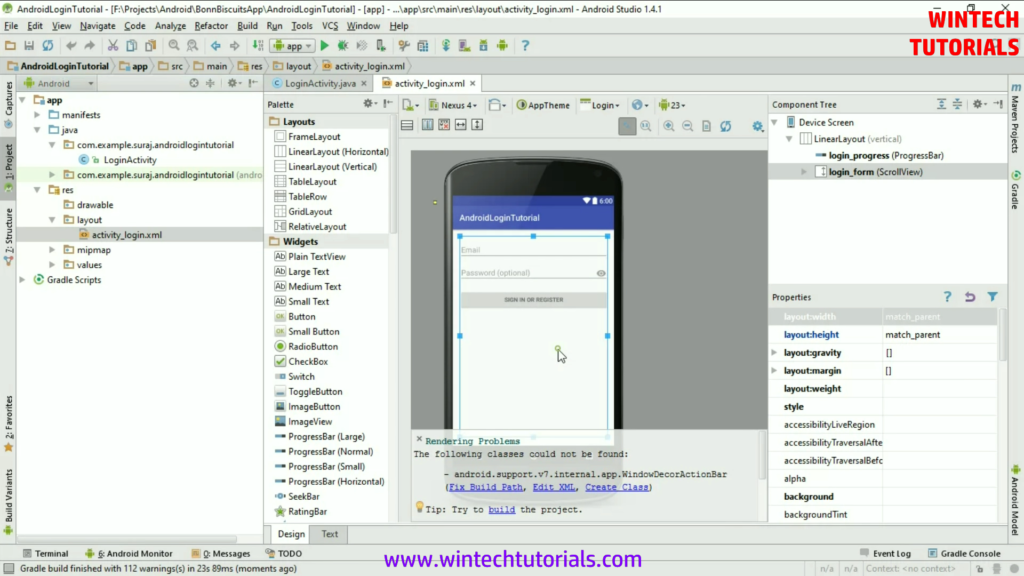 Android IDE Screen